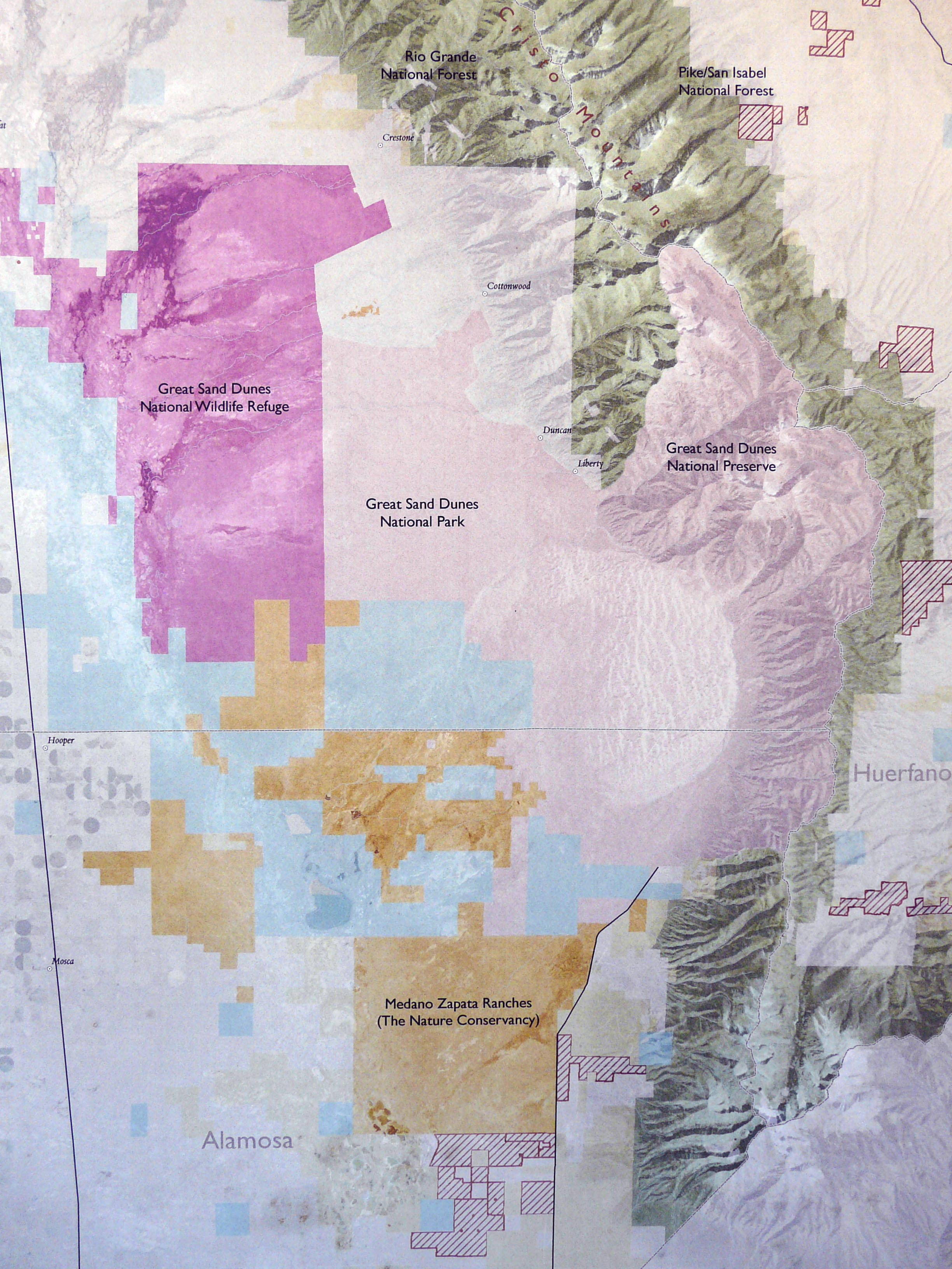 Sand Dunes Colorado Map.The Medano Zapata Ranch Bison And Conservancy