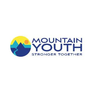 Logo juvenil de montaña